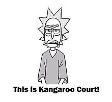 Rick and Morty-- Kangaroo Court Photographic Print