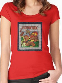 Retro Adventure Game Cartridge Women's Fitted Scoop T-Shirt