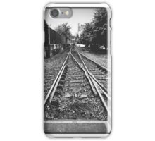 Train Tracks Black and White iPhone Case/Skin