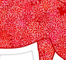 Flower Elephant, Deep Red and Coral Sticker