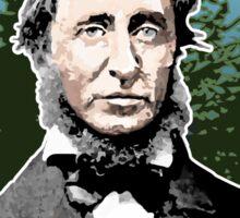 Henry David Thoreau Quote Sticker