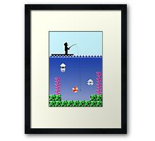 Mario Fishing Framed Print