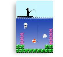Mario Fishing Canvas Print