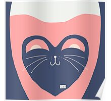 Kitty Pink Poster