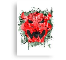 Bowser Emblem Splatter Canvas Print