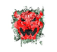 Bowser Emblem Splatter Photographic Print