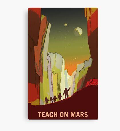 Nasa Mars Recruitment Poster - Teach on Mars Canvas Print