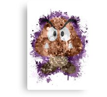 Goomba Splatter Canvas Print