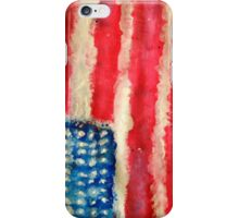 Rugged U.S. Flag Painting iPhone Case/Skin