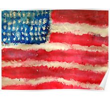 Rugged U.S. Flag Painting Poster