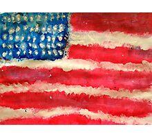 Rugged U.S. Flag Painting Photographic Print