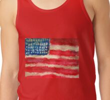 Rugged U.S. Flag Painting Tank Top