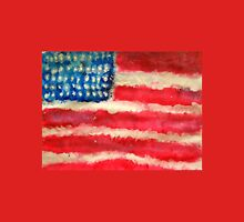 Rugged U.S. Flag Painting T-Shirt