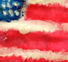 Rugged U.S. Flag Painting Sticker