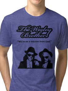 Wesley Brothers in Black Tri-blend T-Shirt