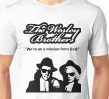 Wesley Brothers in Black Unisex T-Shirt