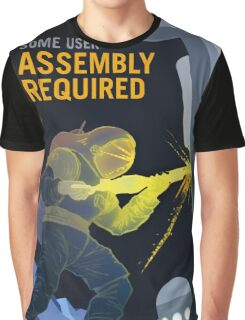 Nasa Mars Recruiting Poster - Some User Assembly Required Graphic T-Shirt