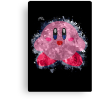 Kirby Splatter Canvas Print