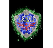 Hylian Shield Splatter Photographic Print