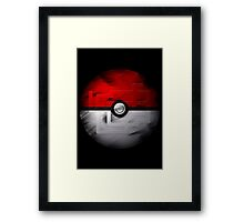 Brushed Pokeball - Kanto Map Framed Print