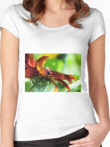 GARDEN FLOWER Women's Fitted Scoop T-Shirt
