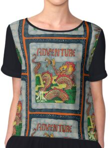 Retro Adventure Game Cartridge Chiffon Top