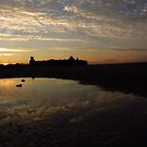 SUNSET AT FORT PERCH ROCK BEACH by gothgirl
