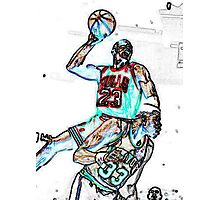 Jordan dunk on Ewing Photographic Print