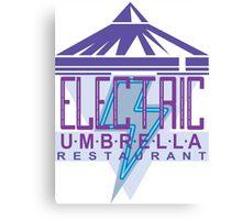 Electric Umbrella Restaurant Canvas Print