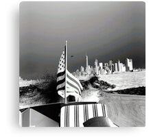 America- Black and White Canvas Print