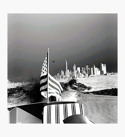 America- Black and White Photographic Print
