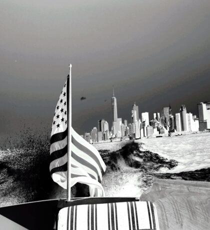 America- Black and White Sticker