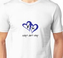 ADOPT A SHELTER PET  (blue) Unisex T-Shirt