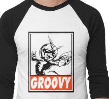 Viewtiful Joe Groovy Obey Design Men's Baseball ¾ T-Shirt
