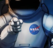 Nasa Mars Recruiting Poster - We Need You Sticker