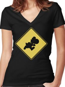 Yoshi Crossing Women's Fitted V-Neck T-Shirt