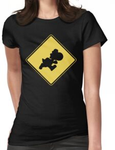 Yoshi Crossing Womens Fitted T-Shirt