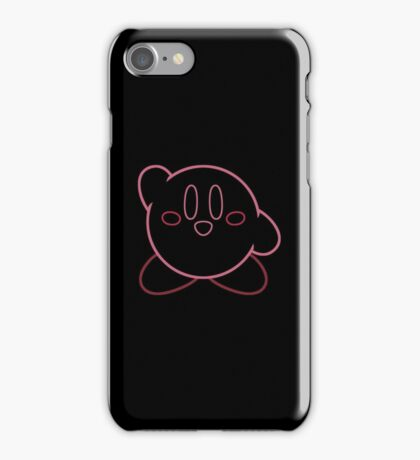 Minimalist Kirby With Face iPhone Case/Skin