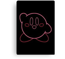 Minimalist Kirby With Face Canvas Print