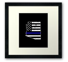 Arizona Thin Blue Line Police Framed Print