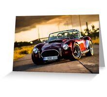 Dark red Cobra Greeting Card