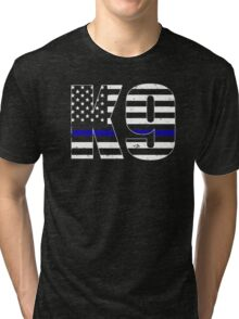 Police K9 Thin Blue Line Tri-blend T-Shirt
