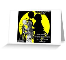 We can live Like Jack and Sally Greeting Card