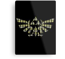 Zelda - Plaid Royal Crest Metal Print