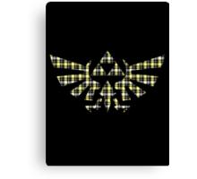 Zelda - Plaid Royal Crest Canvas Print