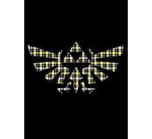 Zelda - Plaid Royal Crest Photographic Print