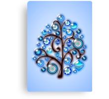 Blue Glass Ornaments Canvas Print
