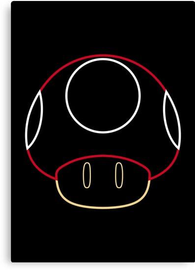 More Minimalist Mario Mushroom by Colossal