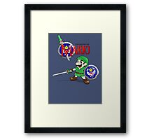 The Legend of Mario Framed Print