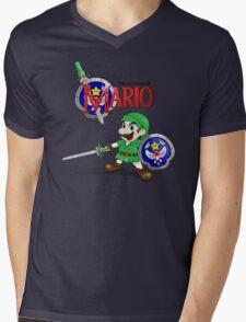 The Legend of Mario Mens V-Neck T-Shirt